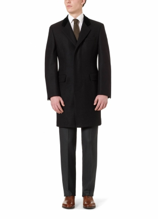 Black Retro Coat Classic Fit Black Retro Coat Classic Fit
