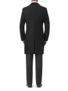Black Retro Coat Slim Fit - 2