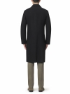 Navy Fly Fronted Overcoat Classic Fit - 1