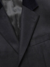 Navy Herringbone Retro Coat Slim Fit - 2